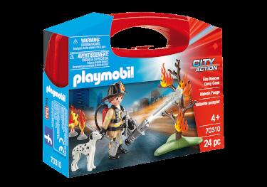 Playmobil-Mitnehm-Set City Action Feuerwehr Löscheinsatz